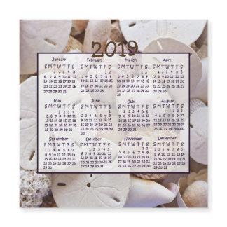 2019 Shells Sand Dollar Mini Magnet Calendars