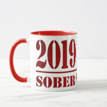 2019 Sober & Clean Recovery alcohol drug free Gift Mug