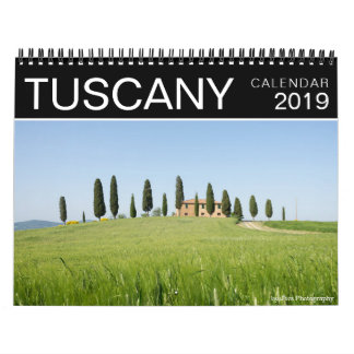 2019 Tuscany landscape and nature photography Calendar