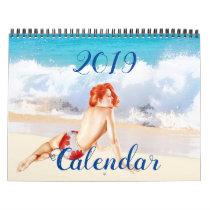 2019 Vintage Pin Up Girl Calendar