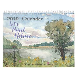2019 Watercolor Nature Calendar