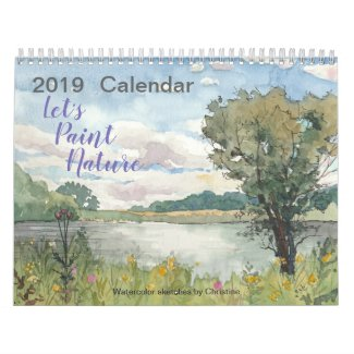 2019 Watercolor Nature Calendar