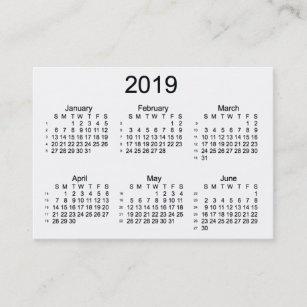 52 weeks calendar business cards zazzle