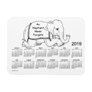 2019 White Elephant Calendar by Janz 3x4 Magnet