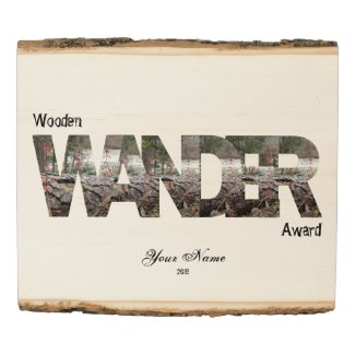 2019 Wooden Wander Award by Wanderlust Peacock Wood Panel