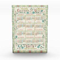 2019 Year Calendar Victorian Art Nouveau | Custom Acrylic Award