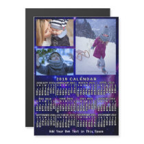 2019 Year Monthly Calendar Space Nebula 3 Photos