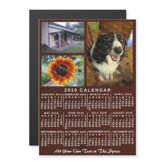 2019 Year Monthly Calendar Wood Custom 3 Photos