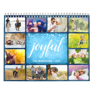 2019 Your Own Photo Calendar | Blue Frame