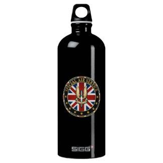 [201] Special Air Service (SAS) Badge [3D] Aluminum Water Bottle