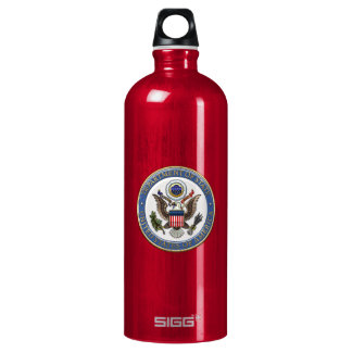 [201] U.S. Department of State (DoS) Emblem [3D] Aluminum Water Bottle