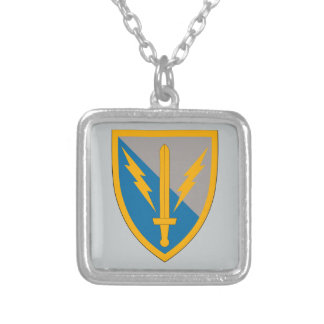 201st Battlefield Surveillance Brigade Silver Plated Necklace