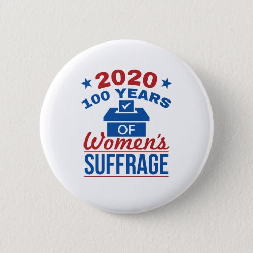 2020 100 Years Of Womens Suffrage Button
