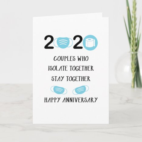 2020 Anniversary Stay Together Card