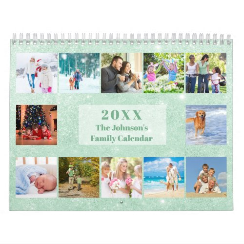2020 Calendar 3 Photos per Month and Notes Section