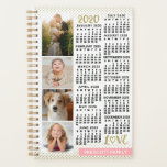 "2020 Calendar Blush Pink Gold Photo Collage Small Planner<br><div class=""desc"">Celebrate 2020 with this elegant family photo collage calendar small planner. On the inside, these planners have pages for you to organize your weeks and months. With the addition of the beautiful yearly calendar cover, you"