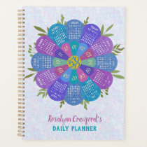 2020 Calendar Boho Purple Flower | Custom Name Planner