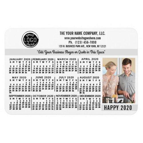 2020 Calendar Custom Business Logo Name Photo W Magnet
