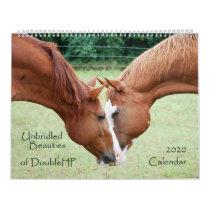 2020 Calendar, Unbridled Beauties of DoubleHP Calendar