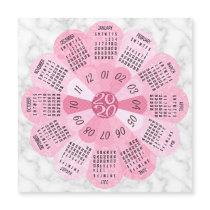2020 Calendar Unique Boho Pink Flower Magnet