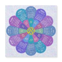 2020 Calendar Unique Boho Purple Flower Magnet