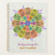2020 Calendar Unique Boho Retro Flower Custom Name Planner