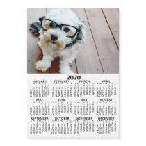 2020 Calendar with Photo Basic Black White Minimal