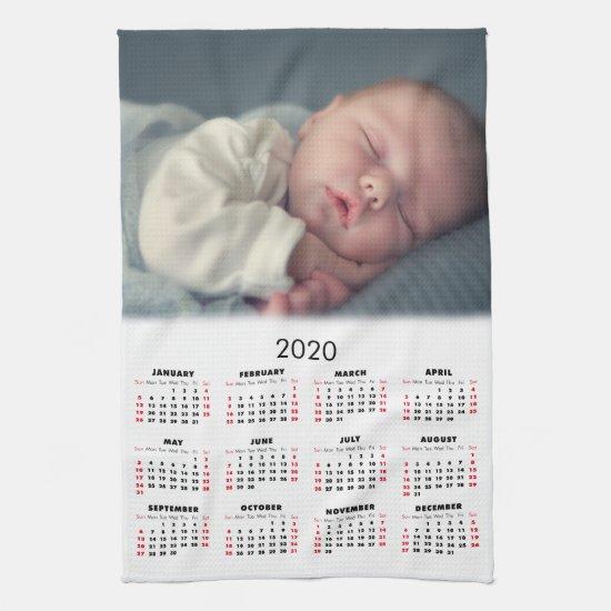 2020 Calendar Your Photo Kitchen Towel