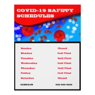 2020 COVID-19 SAFETY SCHEDULE CLOSED FLYER