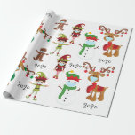 """2020 Covid Quarnatine Christmas Face Mask Wrapping Paper<br><div class=""""desc"""">This design may be personalized by choosing the Edit Design option. You may also transfer onto other items. It is also available in my shop with a smaller image for smaller gifts. Contact me at colorflowcreations@gmail.com or use the chat option at the top of the page if you wish to...</div>"""