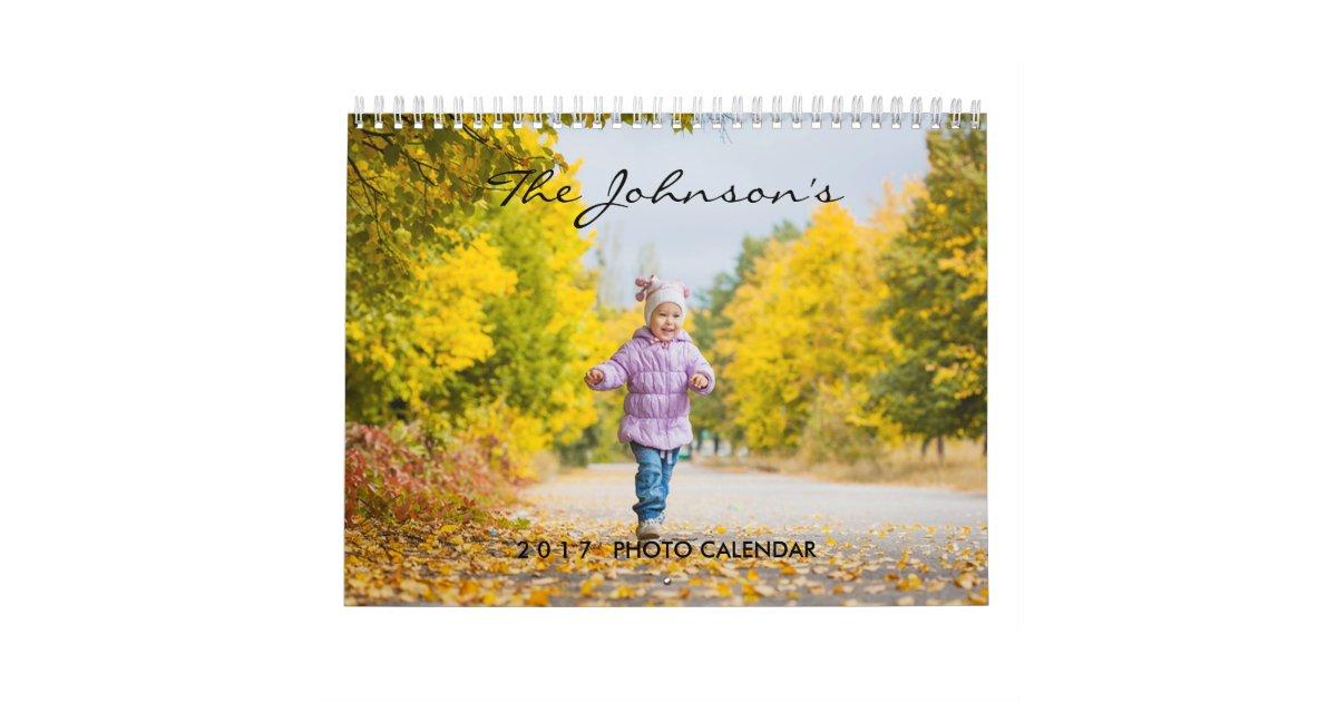 2020 Custom Photo Calendar Editable Year Text Zazzle Com