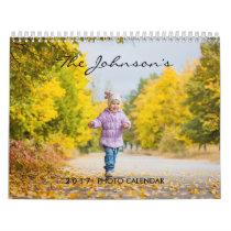 2020 Custom Photo Calendar | Editable Year Text