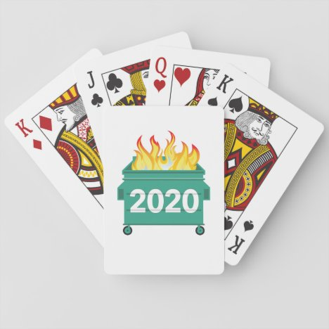 2020 Dumpster Fire Funny Playing Cards
