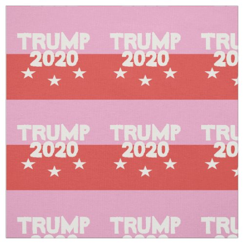 2020 Election TRUMP 2020 Pink Red Fabric