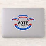 2020 Election USA: make your voice heard and Vote Sticker