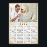 "2020 Full Year Magnetic Calendar One Photo<br><div class=""desc"">This is a 2020 modern photo calendar template to create your own practical gifts for the loved ones. Customize it with personal picture. It's easy to change the photo - just click on a ""Personalize this template"" text and upload your image there. Yearly calendar is a perfect keepsake idea for...</div>"