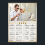 "2020 Full Year Magnetic Calendar One Photo<br><div class=""desc"">This is a 2020 modern photo calendar template to create your own practical gifts for the loved ones. Customize it with personal picture. It"
