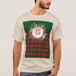 2020 Happy New Year! Scotland Pattern T-Shirt