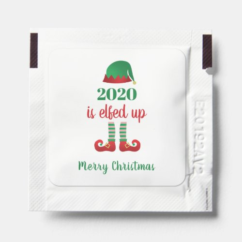 2020 Is Elfed Up Merry Christmas Elf Hat Red Green Hand Sanitizer Packet