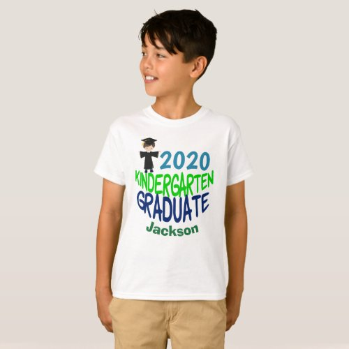 2020 Kindergarten Graduate Custom Kids T_Shirt