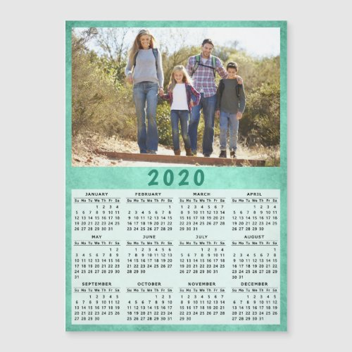 2020 Magnetic Photo Calendar  Green