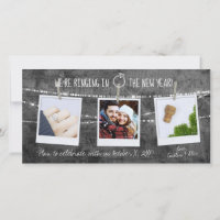 2020 New Year Engagement Rustic Save the Date