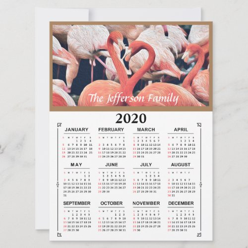 2020 Photo Custom Personalize Calendar