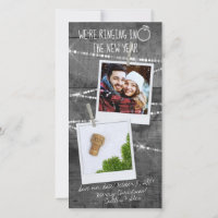2020 Rustic New Year Engagement Announcement