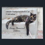 "2020 Tortoiseshell Cat, Binga Memorial Edition Calendar<br><div class=""desc"">For 19 years,  Binga was the epitome of tortitude. This memorial calendar for 2020 contains some of her best tortie moments! All fans of tortoiseshell cats will relate.</div>"