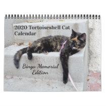 2020 Tortoiseshell Cat, Binga Memorial Edition Calendar