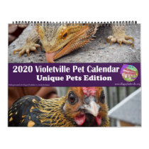 2020 Violetville Pet Calendar ~ Unique Pet Edition