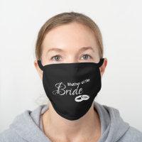 2020 Wedding, Bride Gift Ideas Black Cotton Face Mask