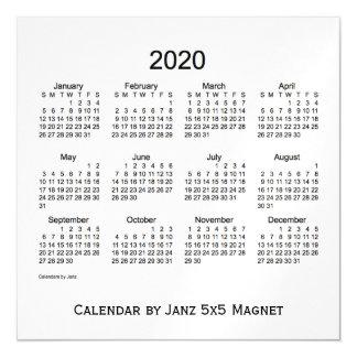 2020 White Smoke Calendar by Janz 5x5 Magnet