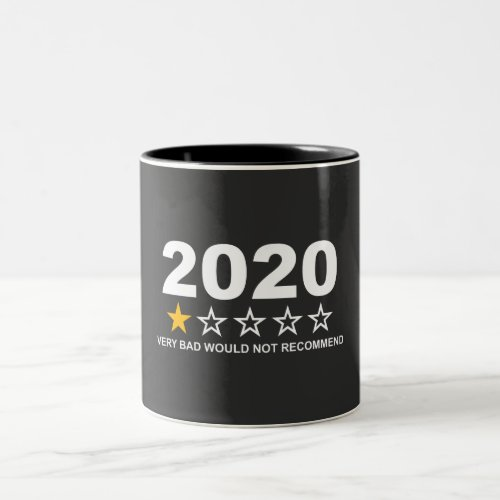 2020 Would Not Recommend Two_Tone Coffee Mug